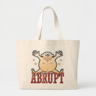 Abrupt Fat Man Large Tote Bag