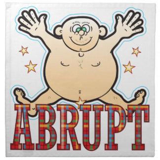 Abrupt Fat Man Napkin