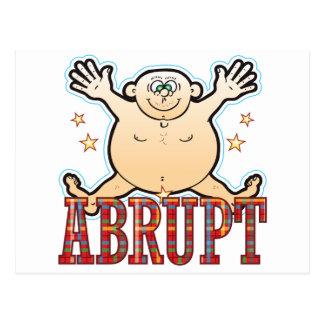 Abrupt Fat Man Postcard