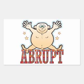 Abrupt Fat Man Rectangular Sticker