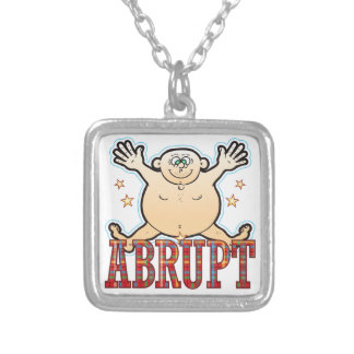 Abrupt Fat Man Silver Plated Necklace