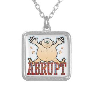 Abrupt Fat Man Square Pendant Necklace