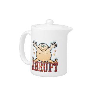 Abrupt Fat Man Teapot