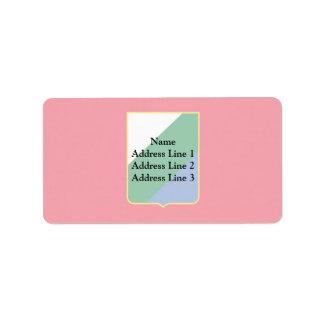 Abruzos, Italia Etiquetas De Dirección