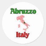 Abruzos Italia Etiquetas Redondas