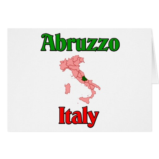 Abruzos Italia Tarjeta