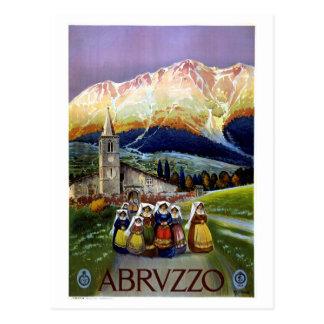 Abruzos restauraron el poster italiano del viaje tarjetas postales