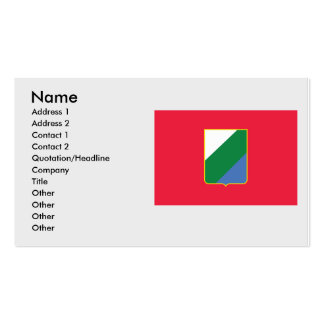 Abruzzo bandiera, Italy Double-Sided Standard Business Cards (Pack Of 100)