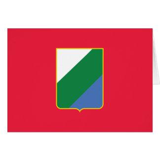 Abruzzo bandiera, Italy Greeting Card