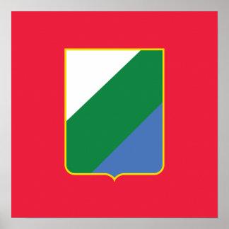 Abruzzo bandiera, Italy Poster