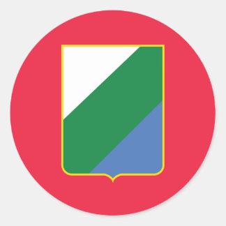 Abruzzo bandiera, Italy Sticker