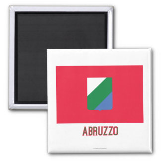 Abruzzo flag with name magnet