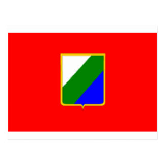 Abruzzo (Italy) Flag Postcard
