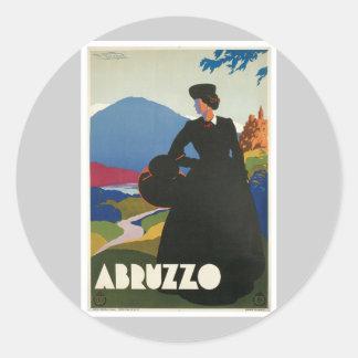 Abruzzo Italy Vintage Classic Round Sticker