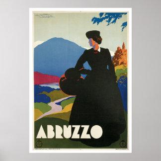Abruzzo Italy Vintage Poster