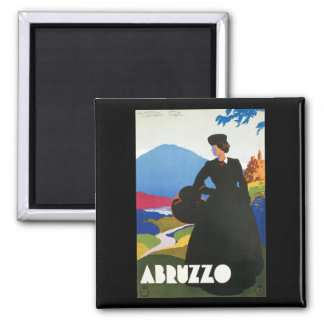 Abruzzo, Italy Vintage Travel Advertising Poster Magnet