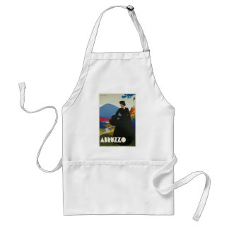 Abruzzo, Italy vintage travel poster Adult Apron