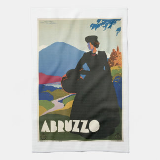 Abruzzo, Italy Vintage Travel Poster Kitchen Towels