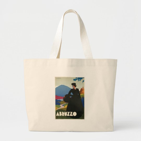 Abruzzo, Italy vintage travel poster Large Tote Bag