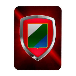 Abruzzo Mettalic Emblem Magnet