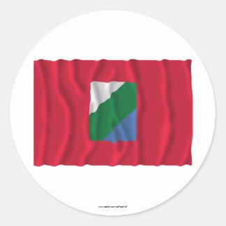 Abruzzo waving flag sticker