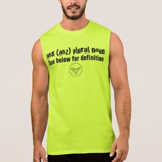 abs (abz) plural noun sleeveless t-shirts