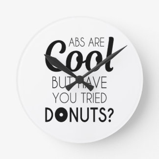 Abs or Donuts Round Clock