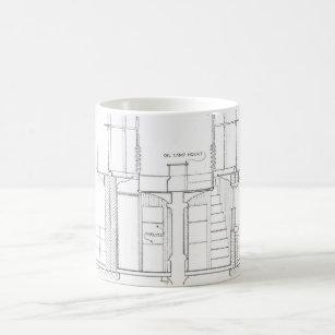 Blueprint coffee travel mugs zazzle absecon lighthouse blueprint coffee mug malvernweather Choice Image