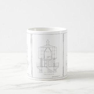 Blueprint coffee travel mugs zazzle absecon lighthouse blueprint coffee mug malvernweather Gallery