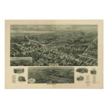 Absecon New Jersey 1924 Antique Panoramic Map Poster