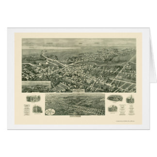 Absecon NJ Panoramic Map - 1924 Card
