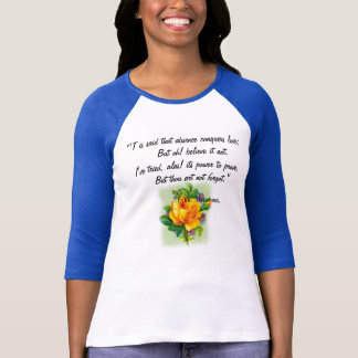 Absence and Forgetting T-Shirt with roses