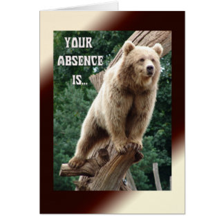 Absence Difficult to Bear Greeting Card
