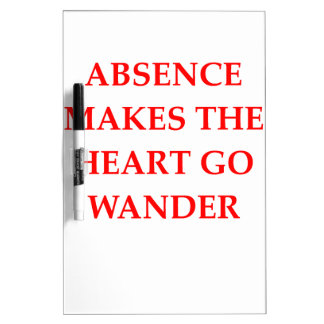 absence dry erase board