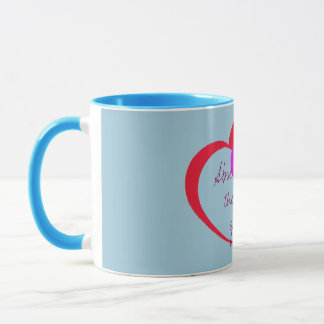 Absence makes the heart  valentines day mug design