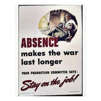 Absence Makes The War Last Longer Flyers