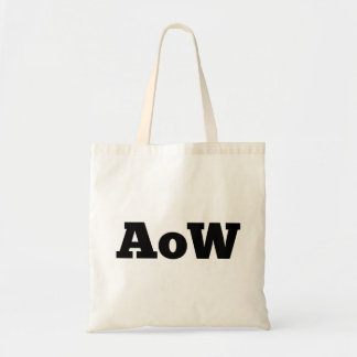 """Absence of Wax / """"AoW"""" logo tote bag"""
