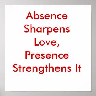 Absence Sharpens Love, Presence Strengthens It Poster