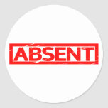 Absent Stamp Classic Round Sticker