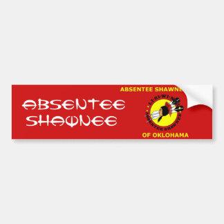 Absentee Shawnee Car Bumper Sticker