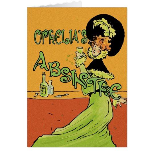 Absinthe 1890s Style Card