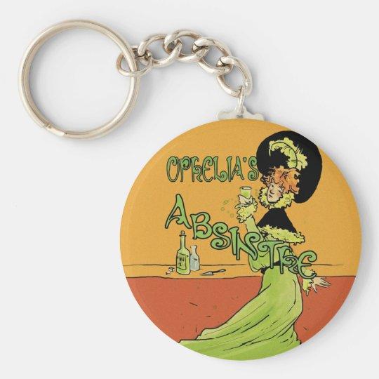 Absinthe 1890s Style Keychain