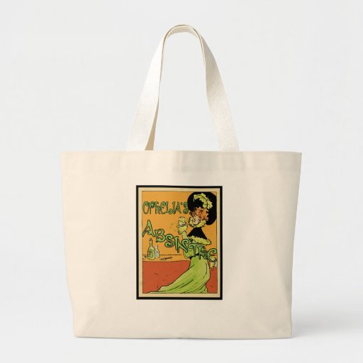 Absinthe 1890s Style Tote Bags