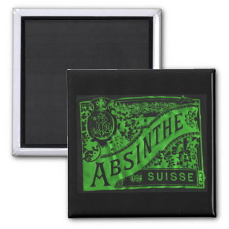 Absinthe 2 Inch Square Magnet