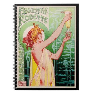 Absinthe Ad 1896 Notebook
