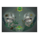 """""""Absinthe:  Anise and Artemisia"""" Greeting Card"""