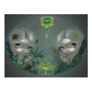 """Absinthe:  Anise and Artemisia"" Postcard"