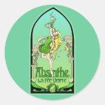 Absinthe Art Nouveau Round Sticker