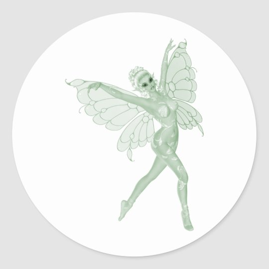 Absinthe Art Signature Green Fairy 3B Classic Round Sticker
