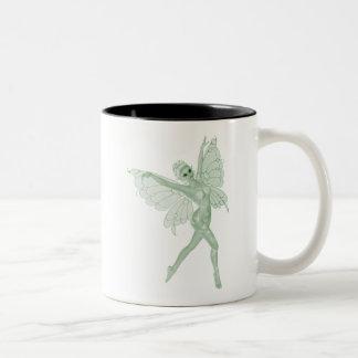 Absinthe Art Signature Green Fairy 3B Two-Tone Coffee Mug